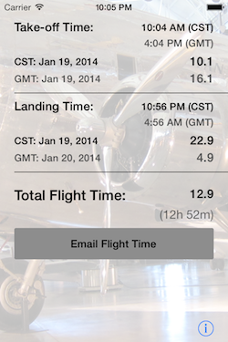 Flight Time Converter iOS Screenshot 1