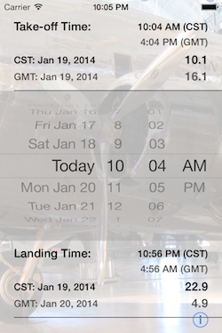 Flight Time Converter iOS Screenshot 2