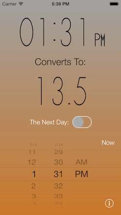 Time Converter 24 iOS Screenshot 1