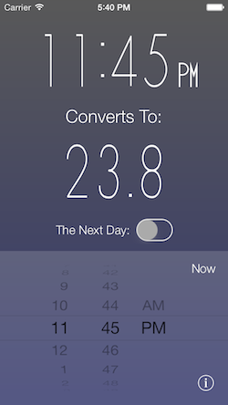 Time Converter 24 iOS Screenshot 2
