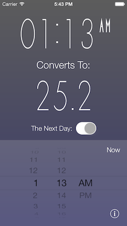Time Converter 24 iOS Screenshot 3