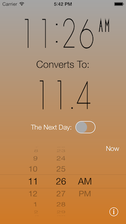 Time Converter 24 iOS Screenshot 4