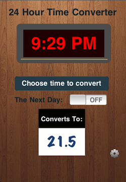 Time Converter 24, v1.0 Simple Clock