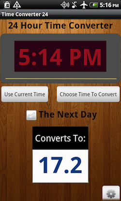 Time Converter 24 Android Screenshot 1
